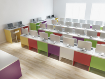 Bespoke school IT Room in Warwick