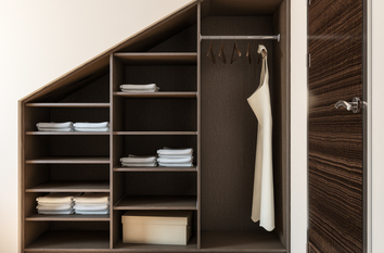 Angled Bedroom Storage Solution in Warwick
