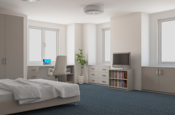 Modern Mussel Bespoke fitted Bedroom Design in Warwick