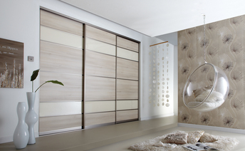 Contemporary bedroom sliding doors in Leamington Spa