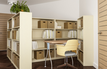 Cream and Brown Modern Home Office in Kenilworth