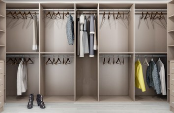 Modern Walk In Wardrobe in Solihull